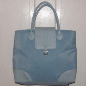 Handbags - Light Blue Vinyl Tote Bag/Large Purse